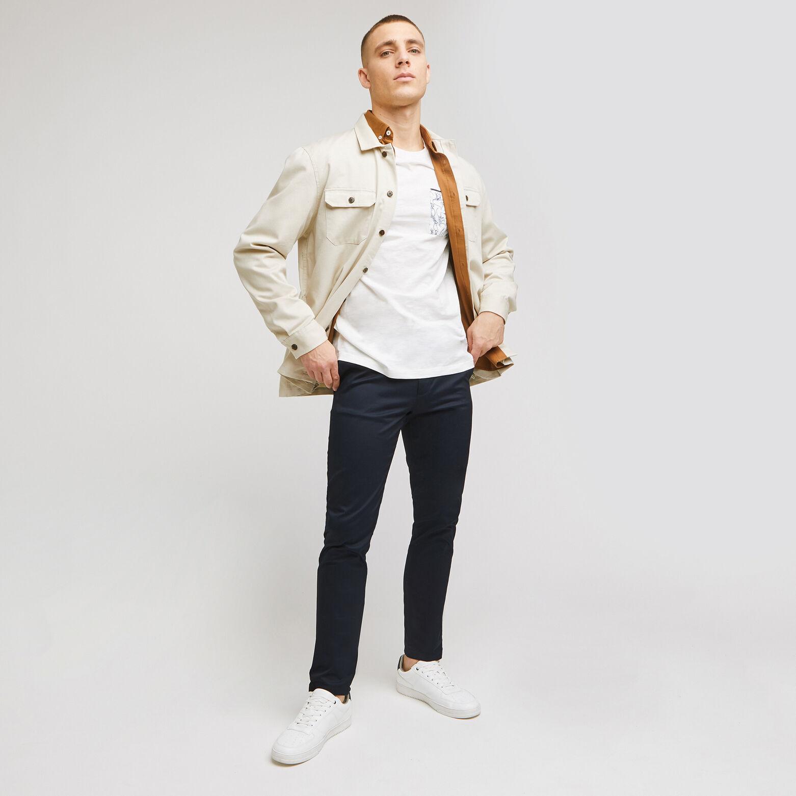 Pantalon chino slim uni