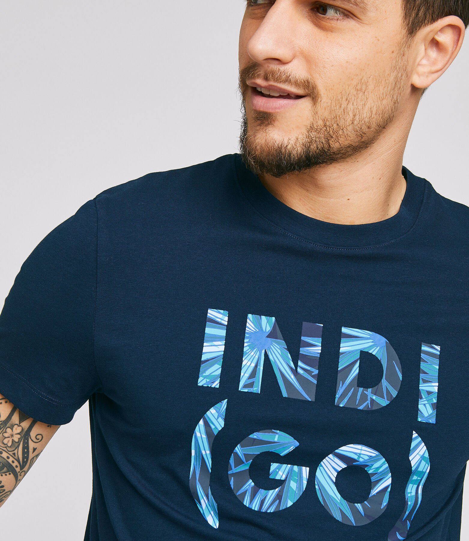 Tee shirt manches courtes message INDI(GO)