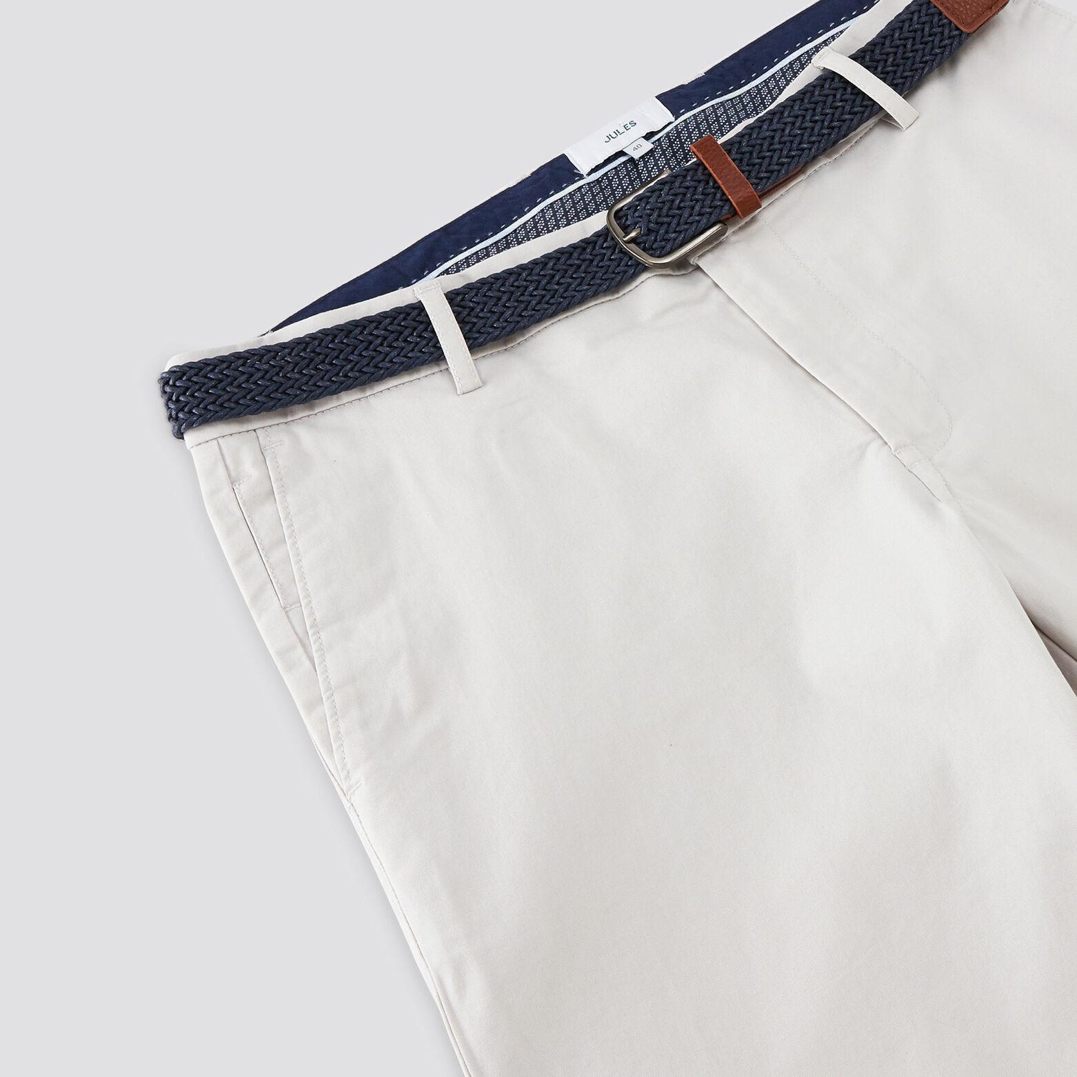 Bermuda chino avec ceinture