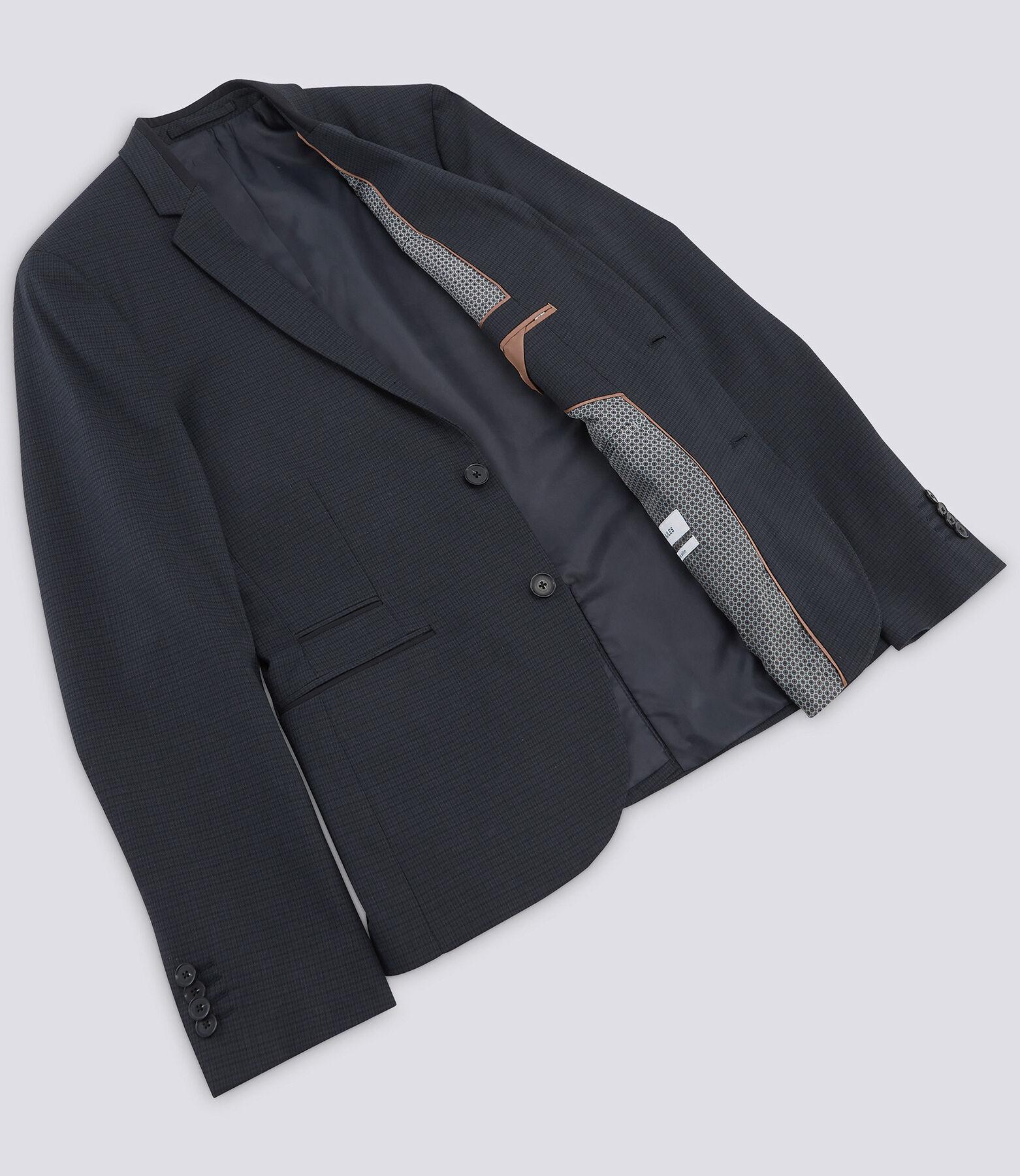 Veste de costume extra-slim motif pied de puce