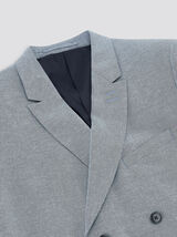 Veste de costume lin double boutonnage