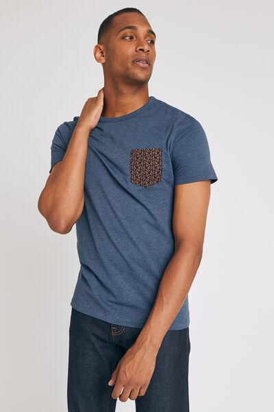 Tee shirt pyjama col rond manches courtes motif ou