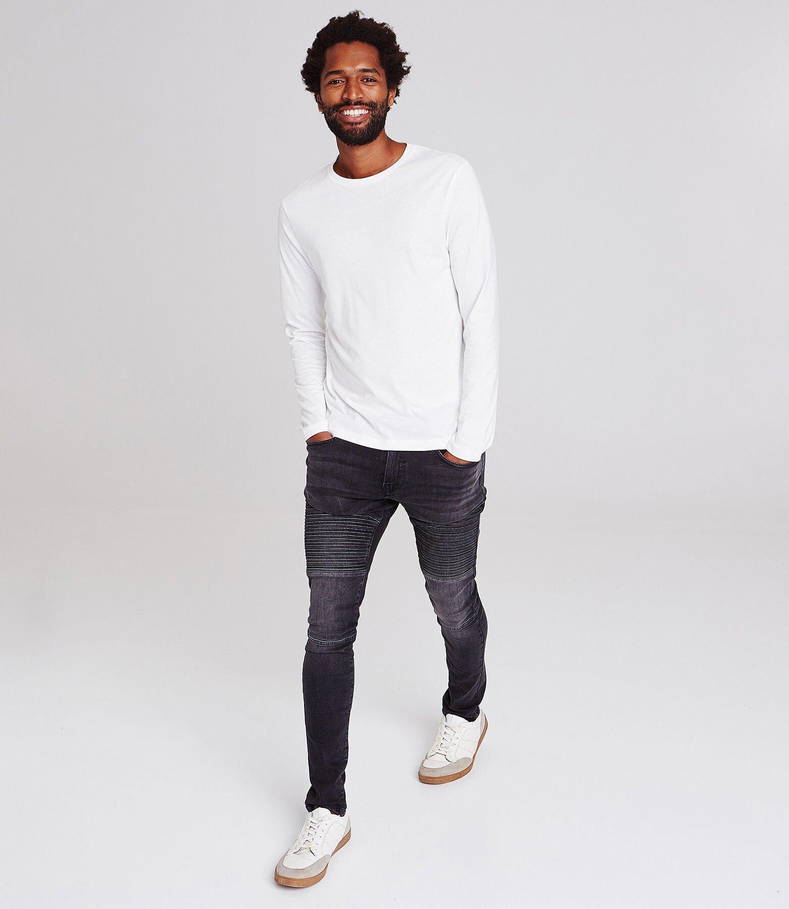 Effen T-shirt met ronde hals