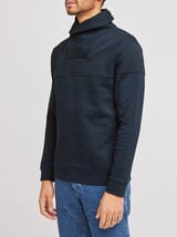 Sweat quilté col snood