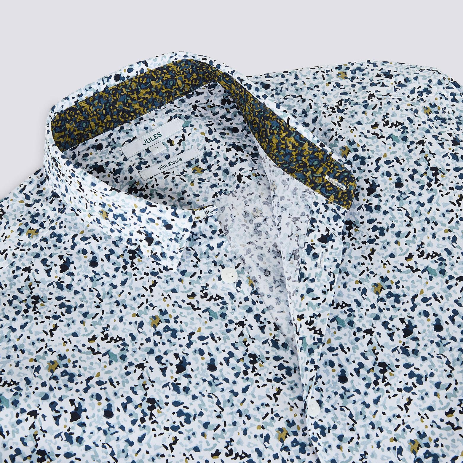 Chemise slim imprimé motif tâche coton