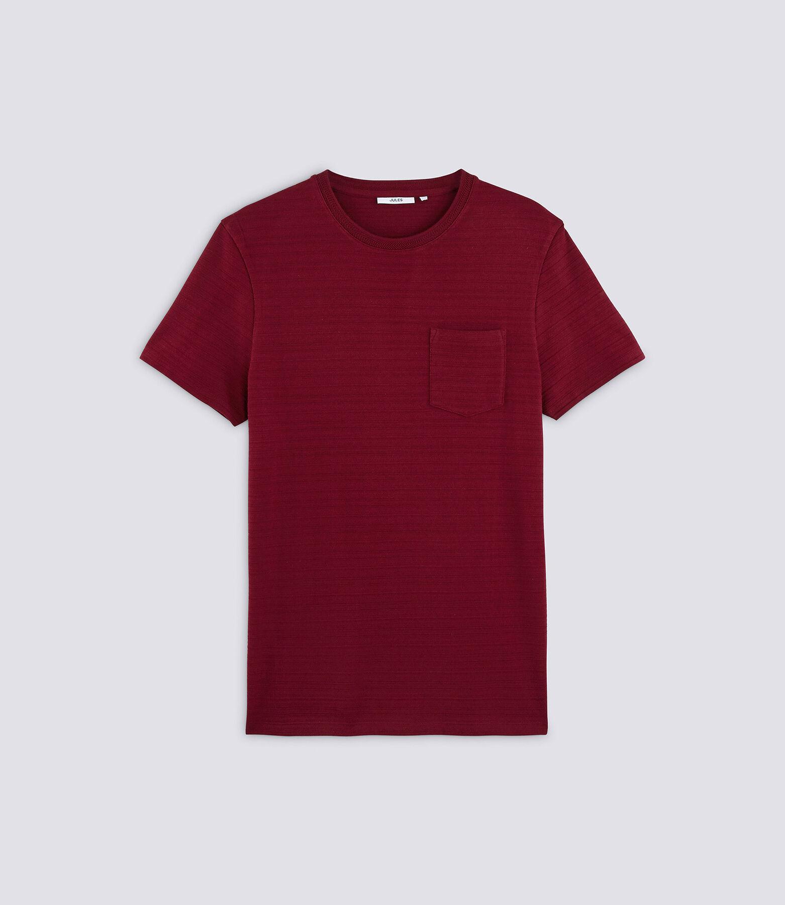 Tee shirt col rond jacquard