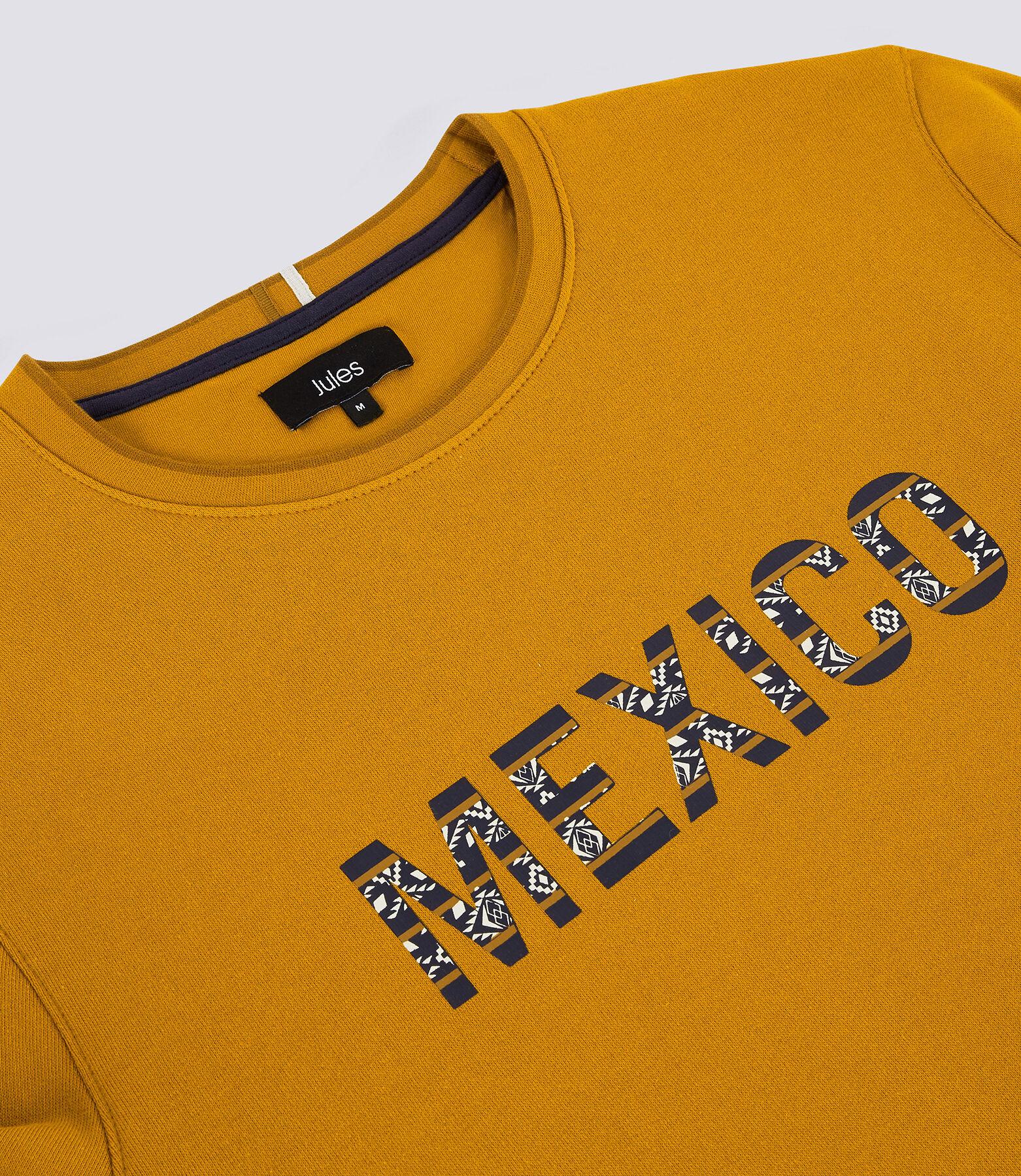 Sweat col rond message imprimé aztec