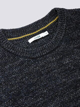 Pull col rond mouliné