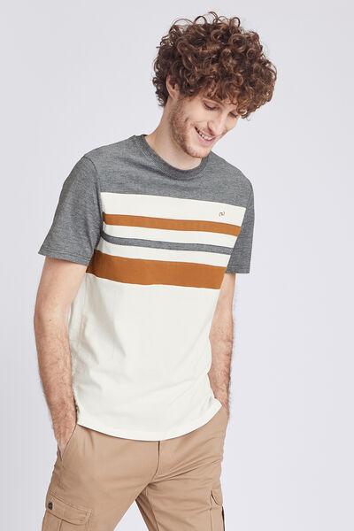 T-shirt met ronde hals, COOL FIT, colorblock