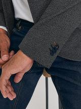veste blazer slim carreaux pied de puce
