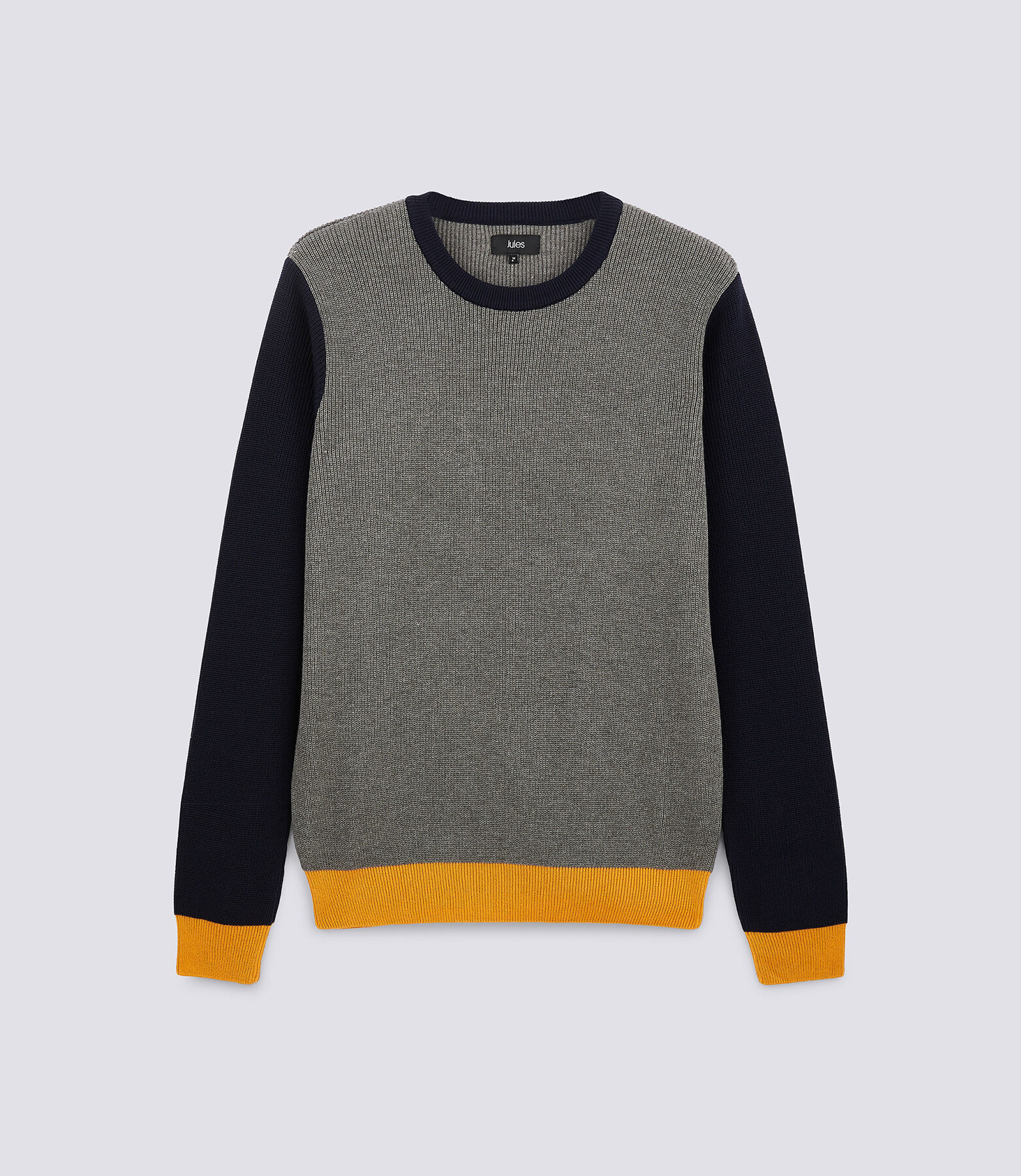 Pull col rond color bloc