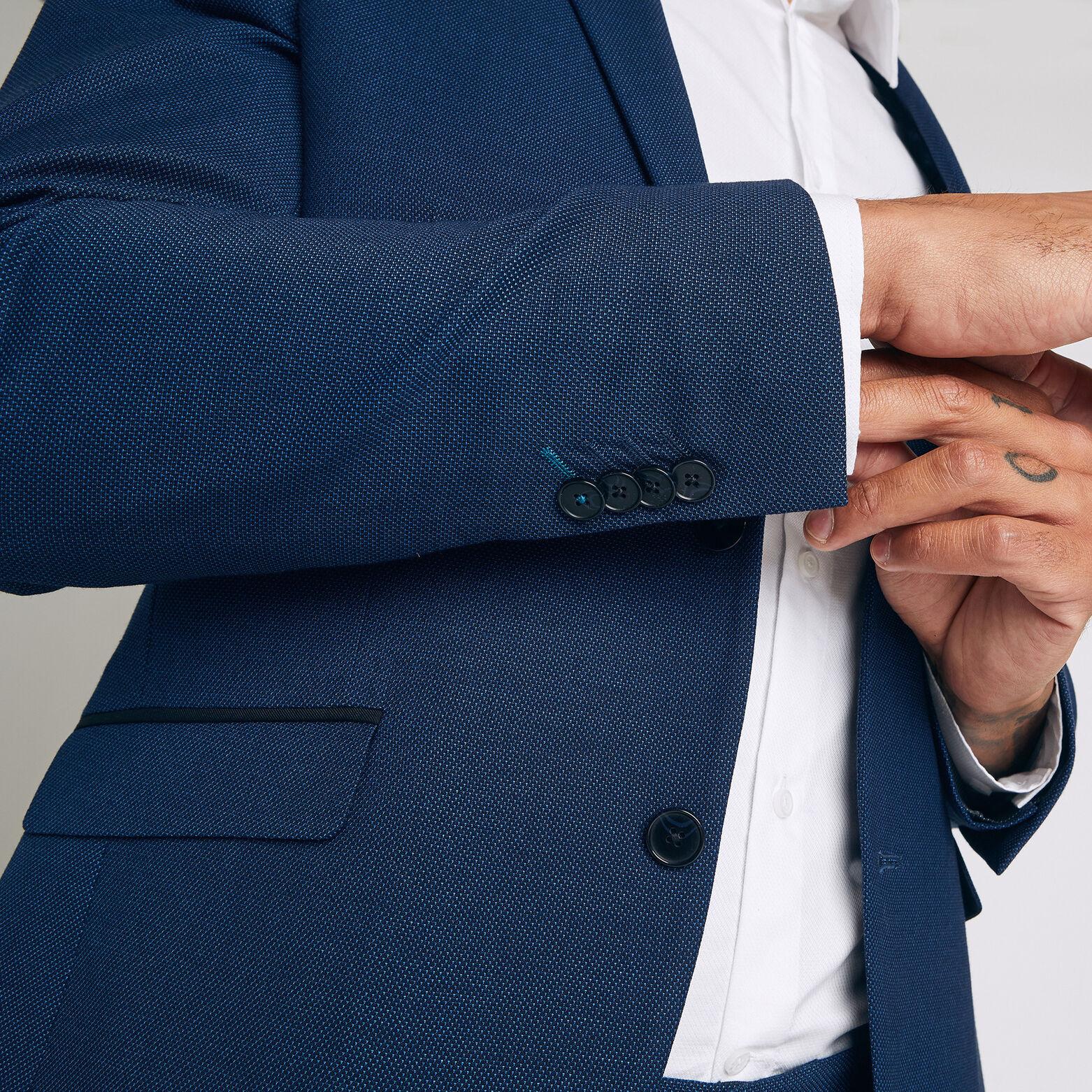 veste de Costume coupe Slim matière reliefée et dé