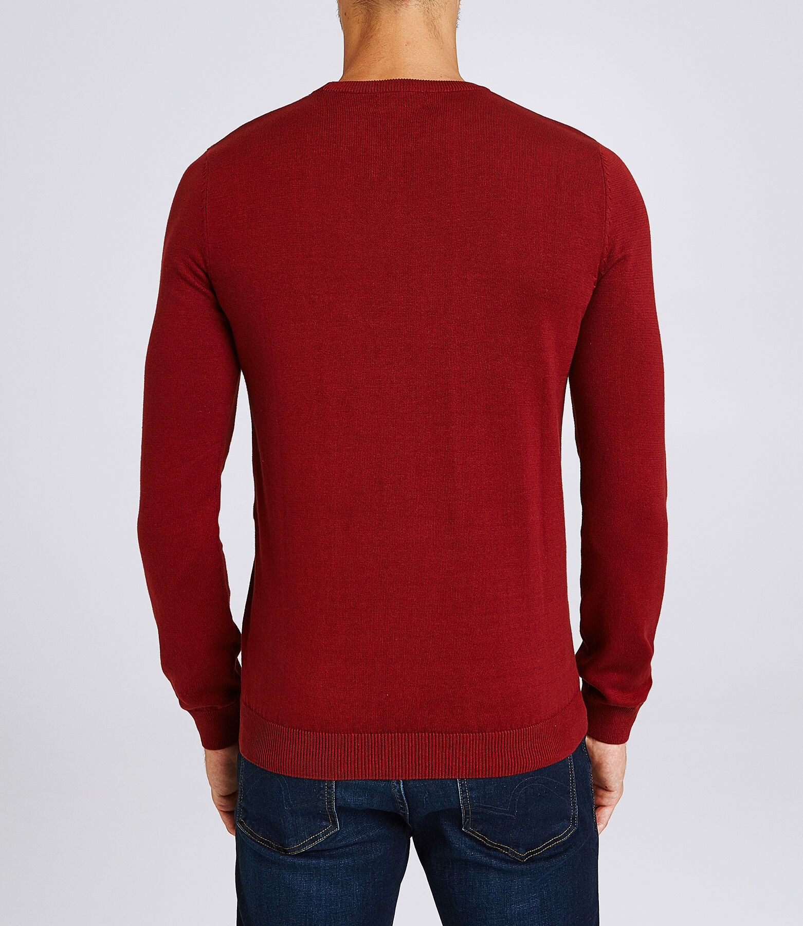 Pull col rond imprimé ours