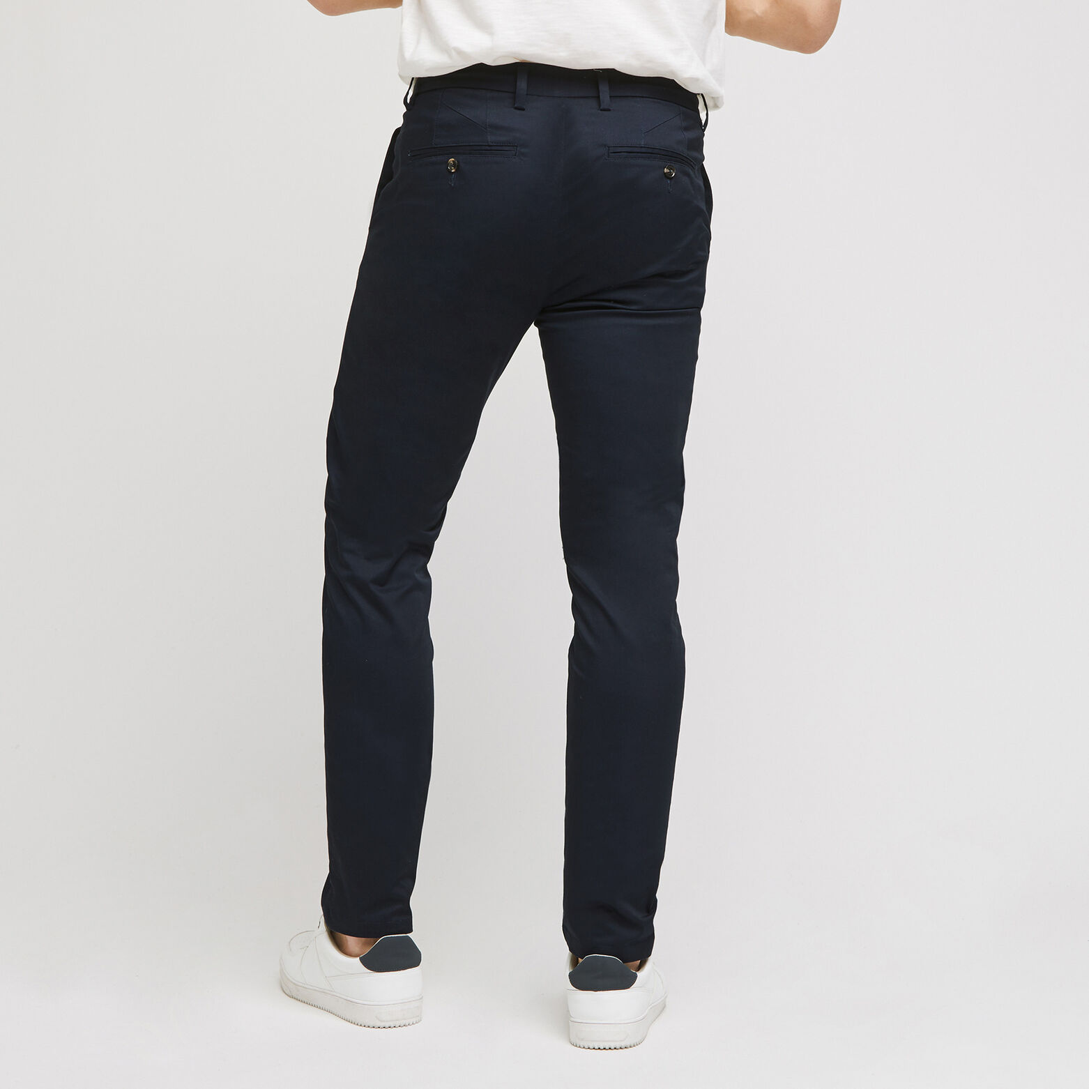 Pantalon chino slim en twill