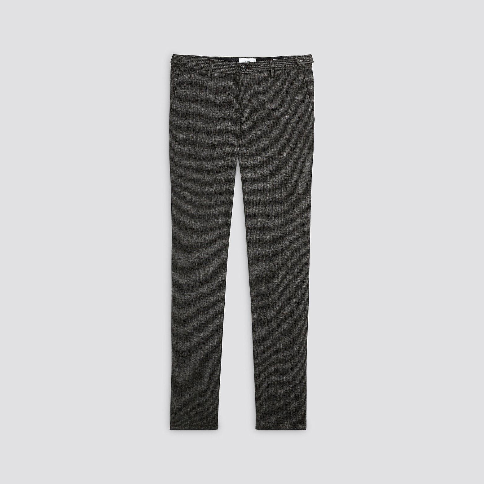 "Pantalon chino slim à carreaux ""in progress"""