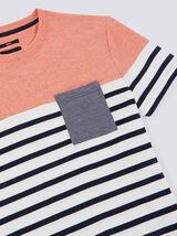 Tee shirt marinière colorblock