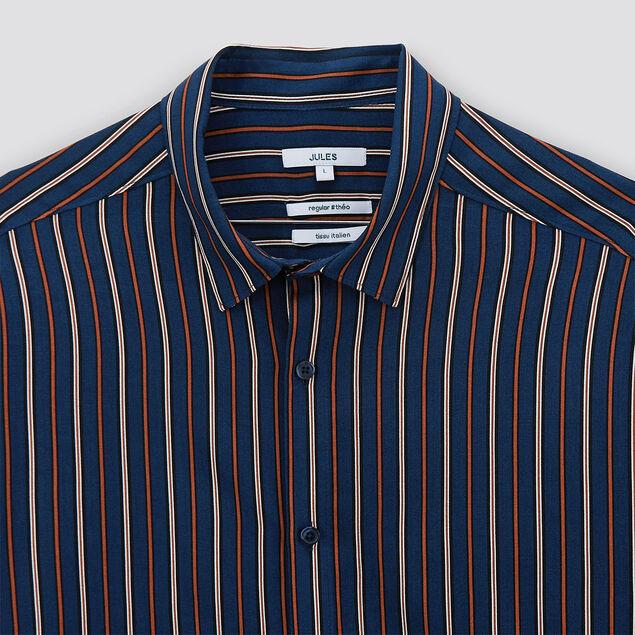 Chemise regular à rayures viscose