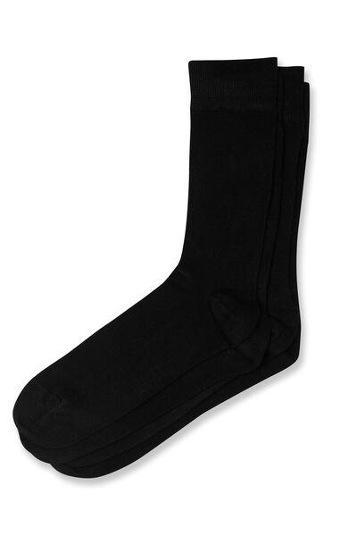 Lot de 2 paires chaussettes unies