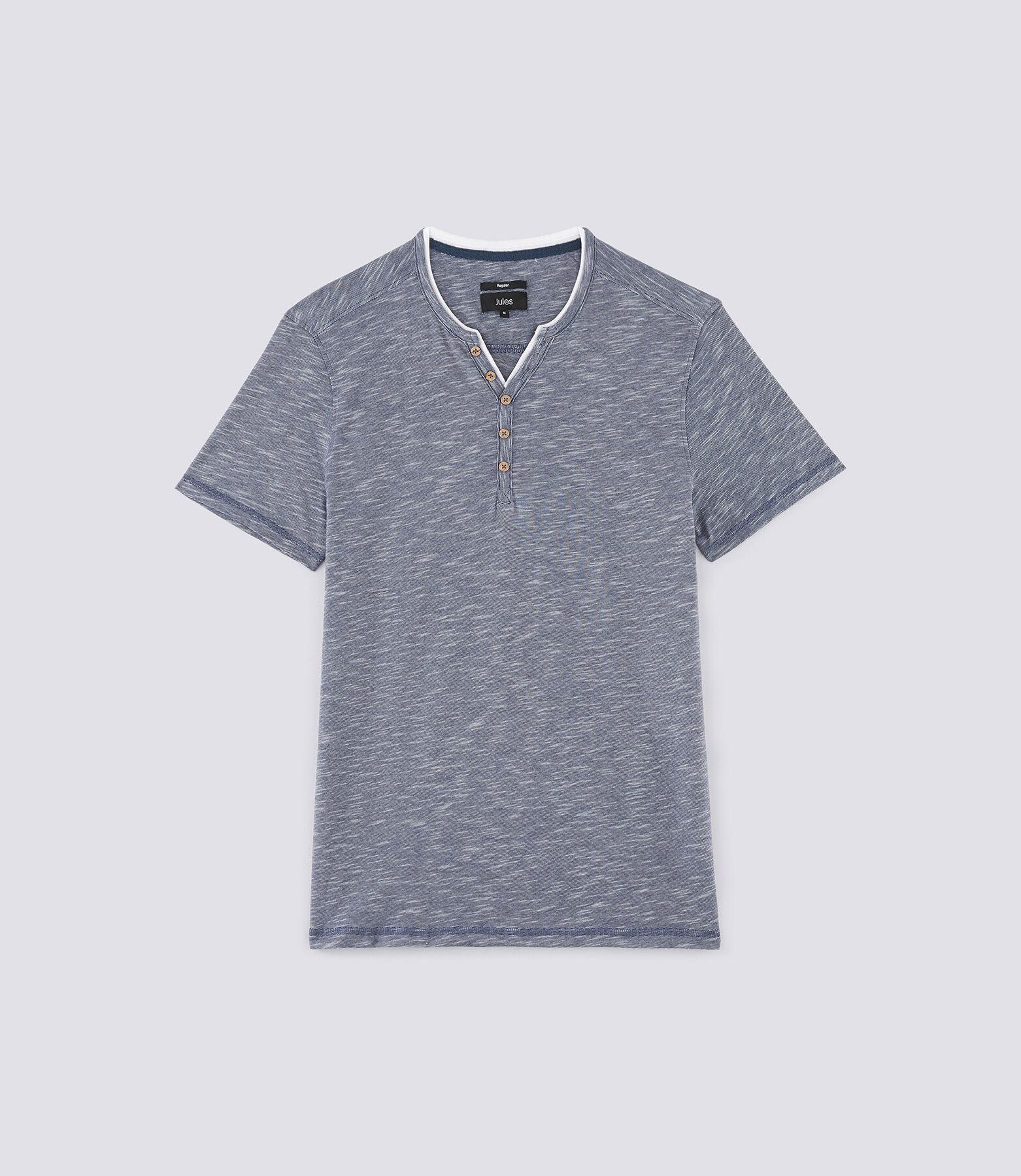 T-shirt met knooplijst