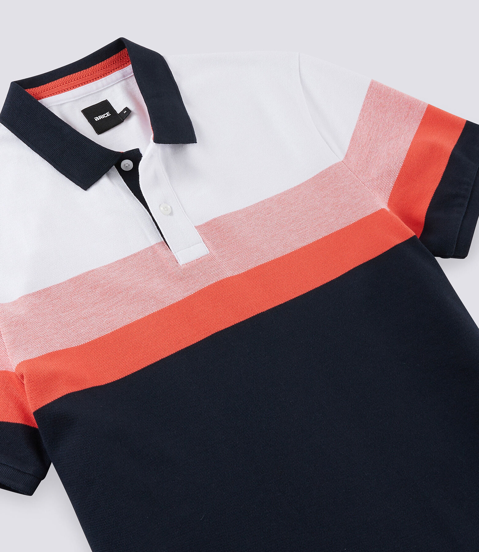 Polo manche courte tricolore