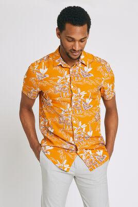 Regular hemd met korte mouw en print