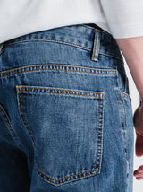 Straight jeans, stonewashed