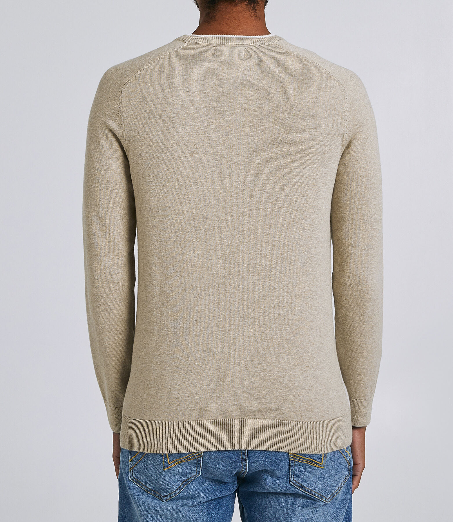 Pull Beige Chiné
