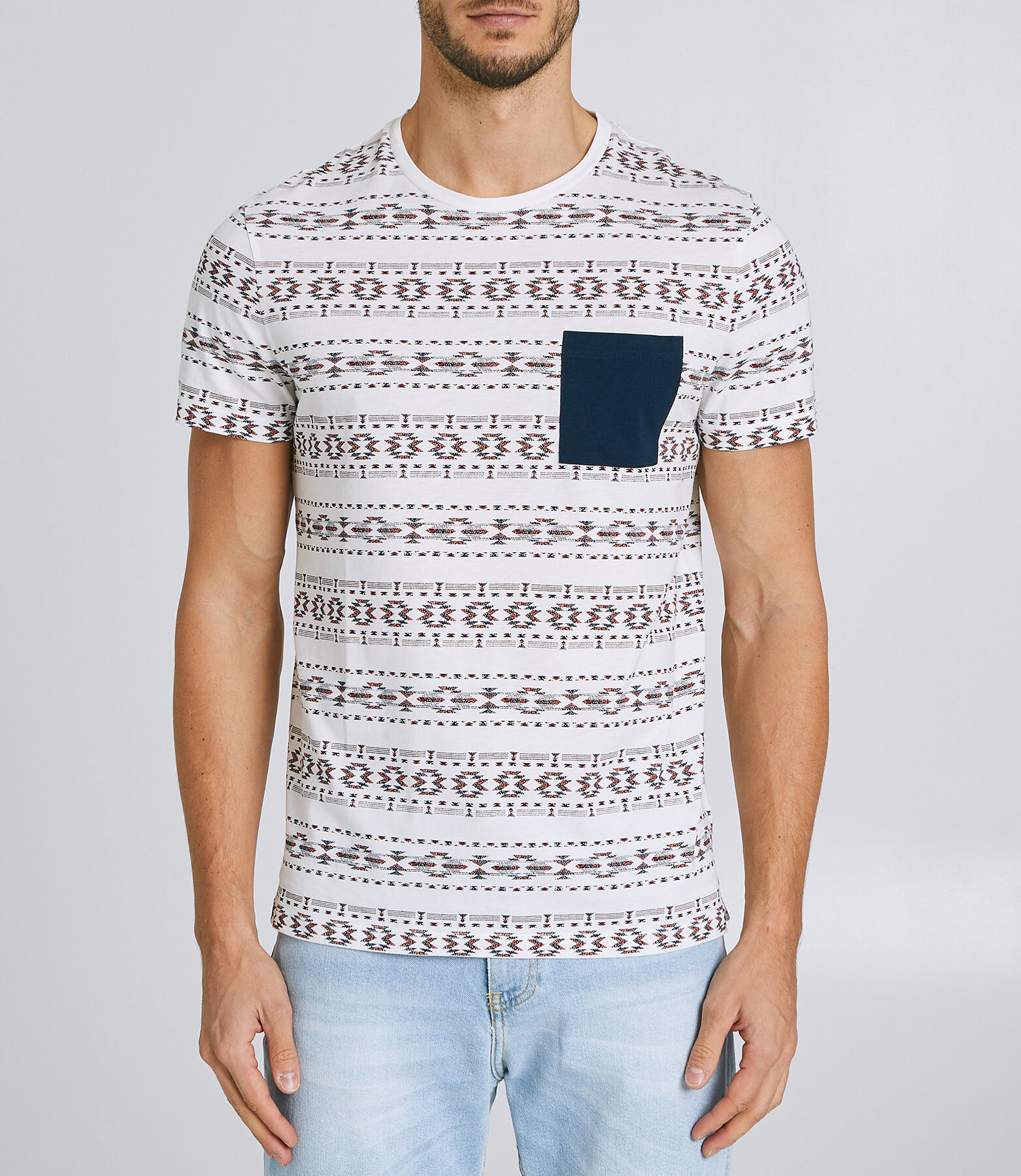 Tee shirt col rond manches courtes
