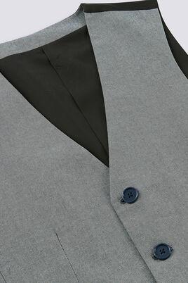 Gilet de costume en twill