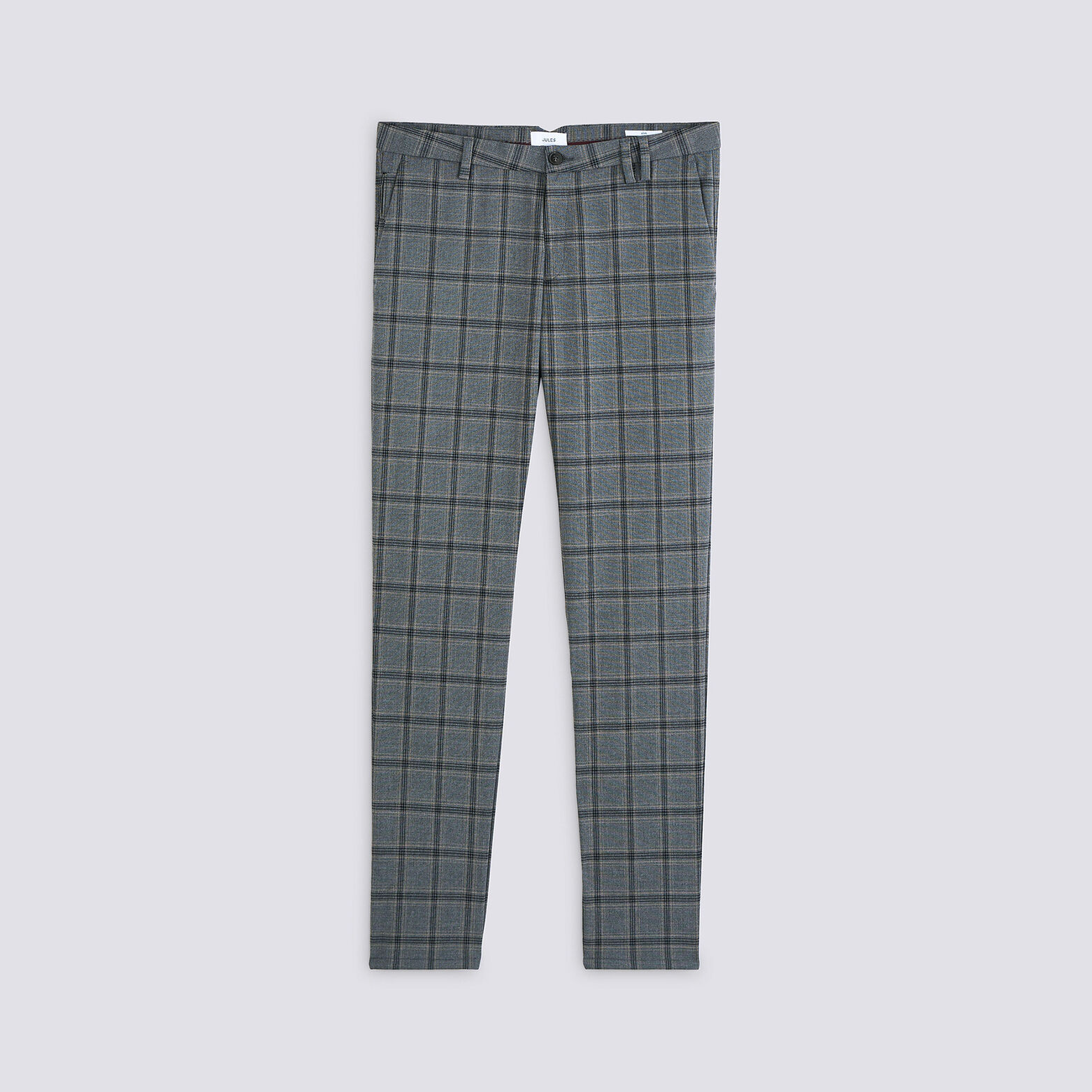 Pantalon chino slim à carreaux