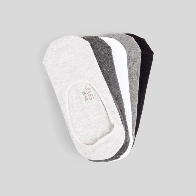 Lot de 5 paires de chaussettes invisibles