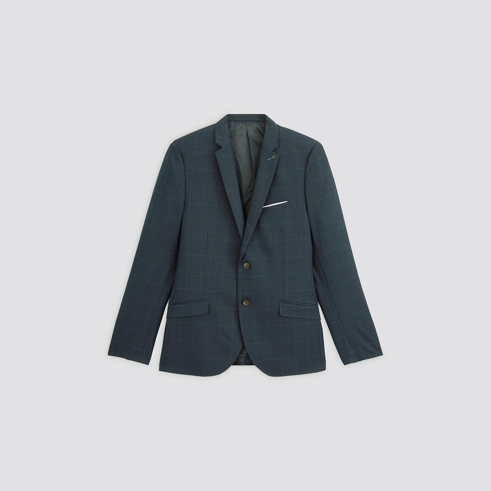 Veste de costume à carreaux slim