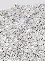 Chemise regular motif floral coton