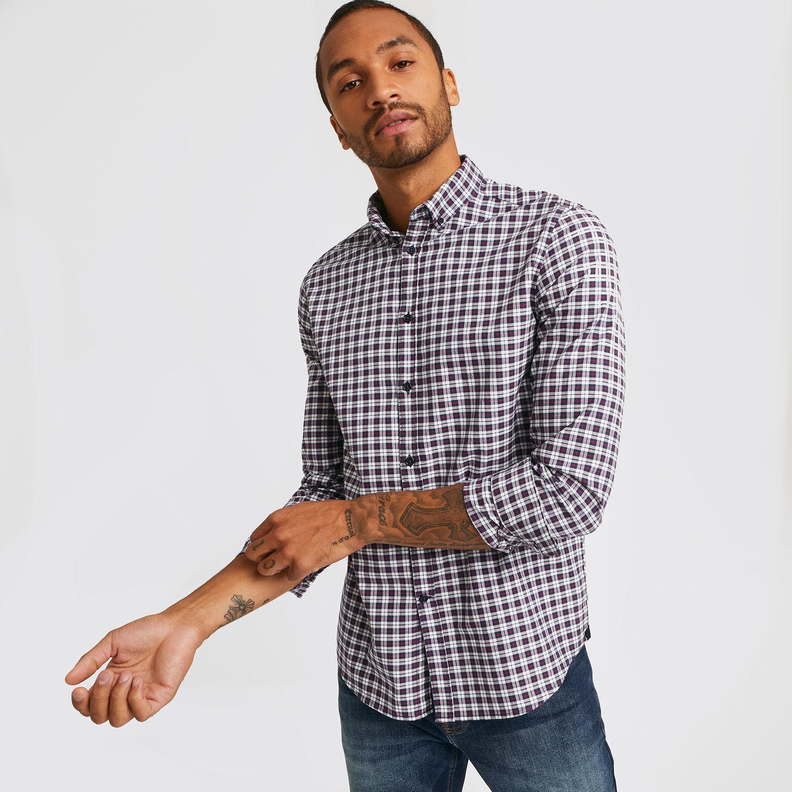 Chemise regular à carreaux