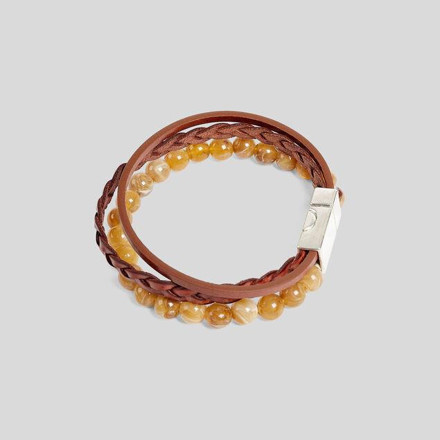 Bracelet multi cordons et perles