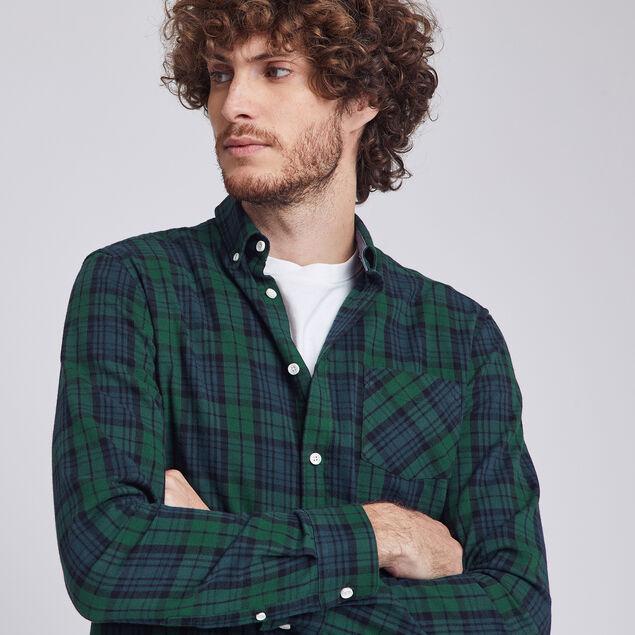 Chemise regular à carreaux flanelle