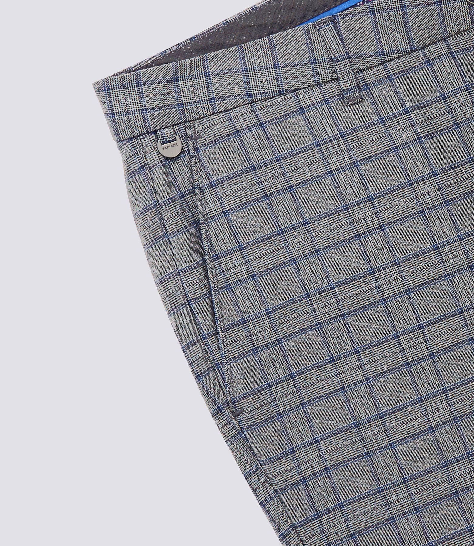 Pantalon Urbain Gris Carreaux