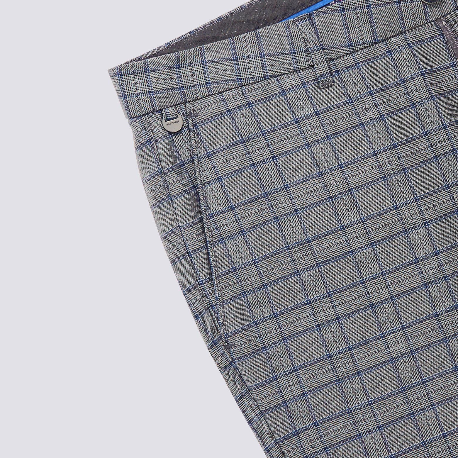 Pantalon chino à carreaux