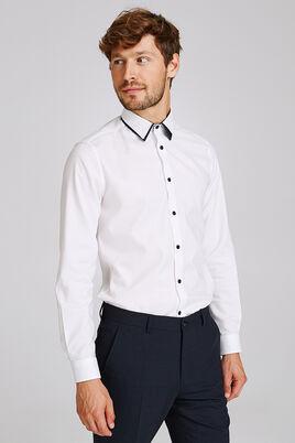 Slim hemd met dubbele kraag