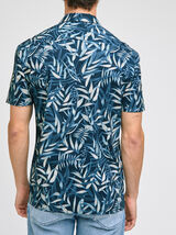 Chemise hawaïenne feuille regular coton biologique