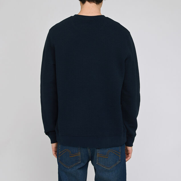 Sweat quilté col rond