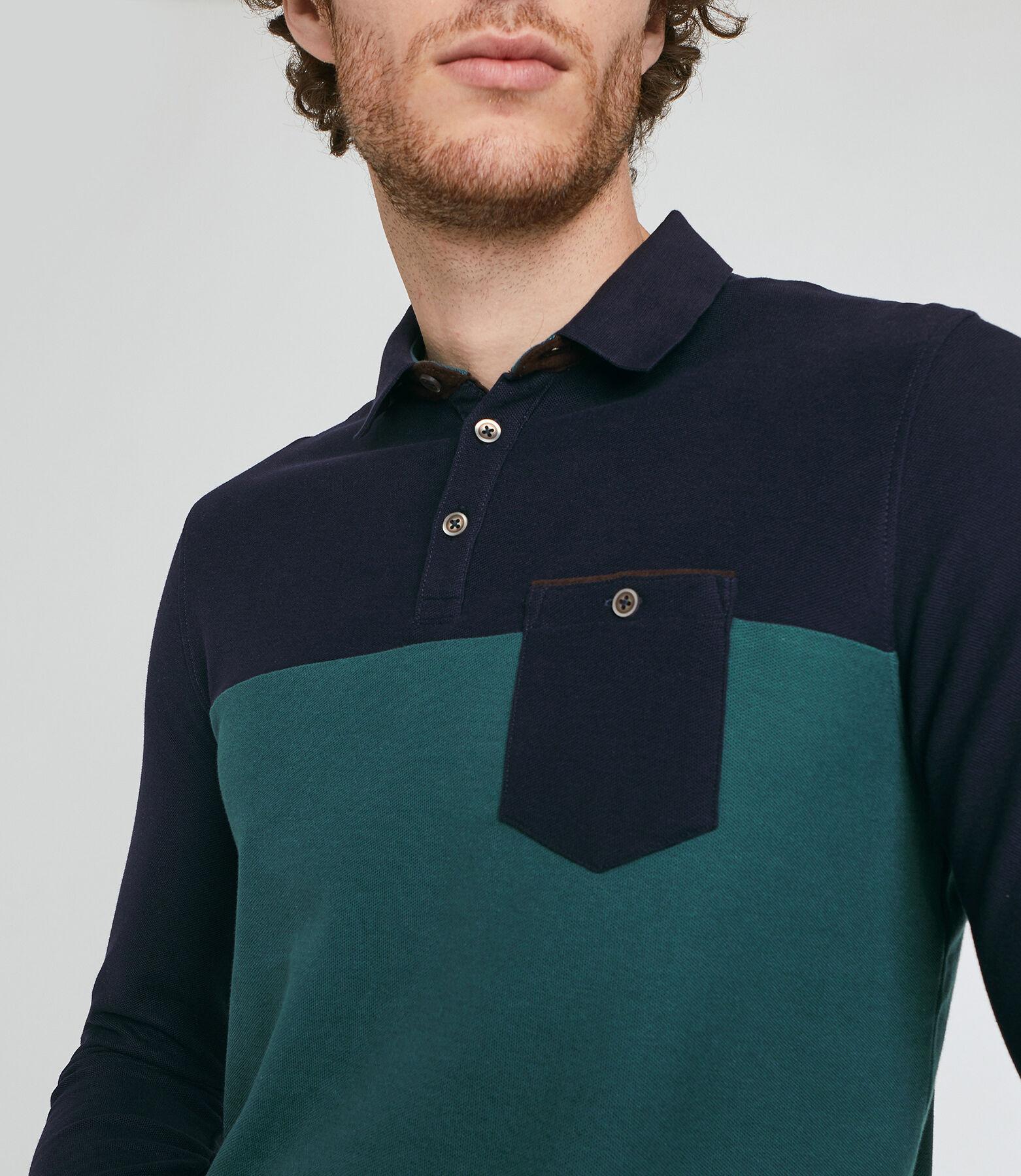 Polo à manche longue colorblock