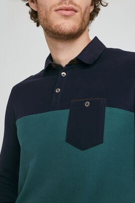 POLO MANCHES LONGUES COLOR BLOCK