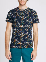 T-shirt all over oiseaux de paradis