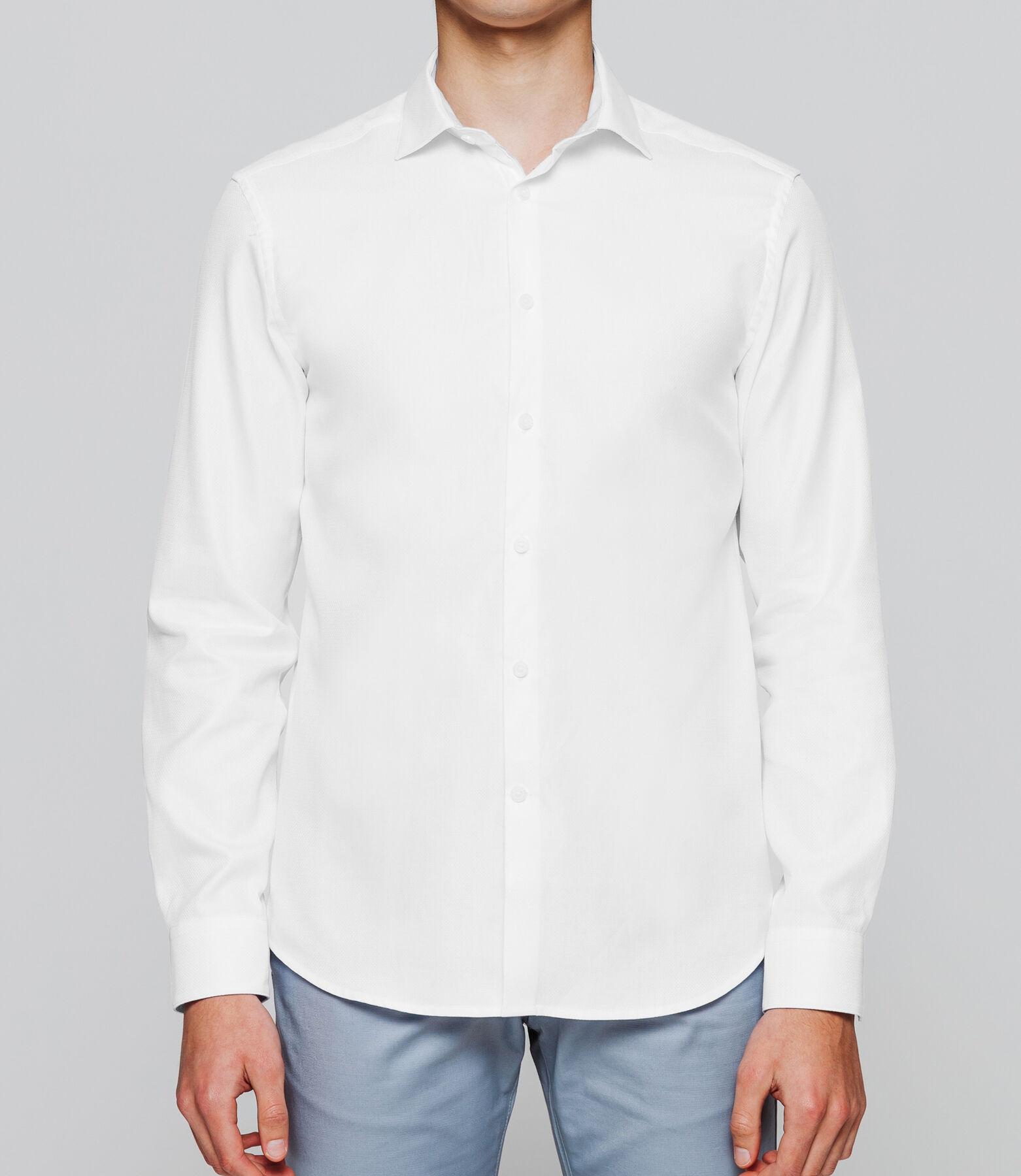 Chemise coupe droite avec poignets doubles