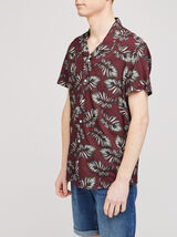 Chemise hawaïenne feuille regular viscose ecovero