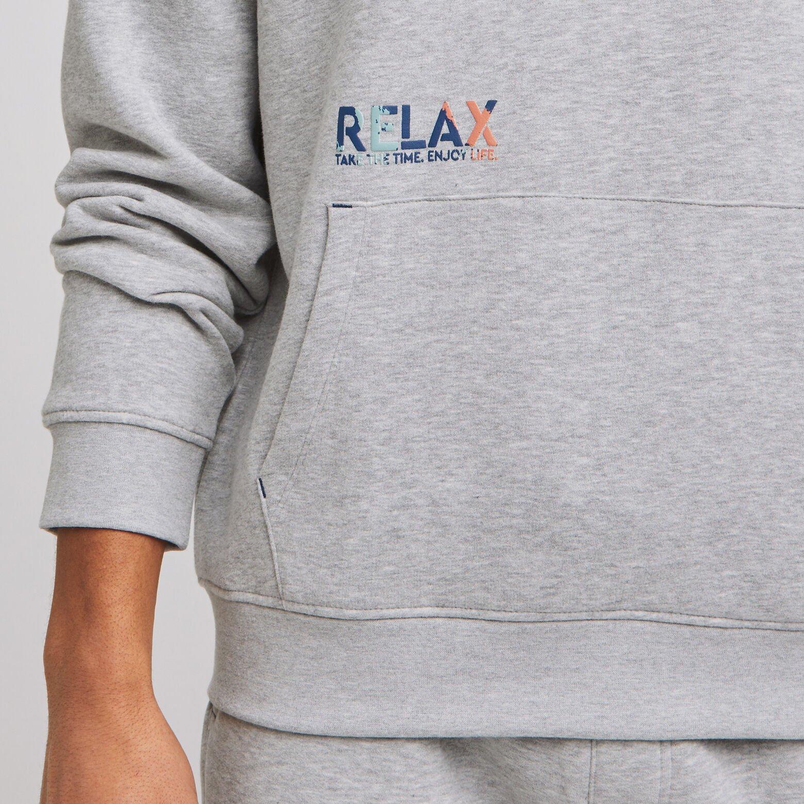 Sweat à capuche chiné gratté intérieur RELAX - POL