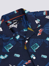 Chemise Sportswear Bleu Marine Fantaisie