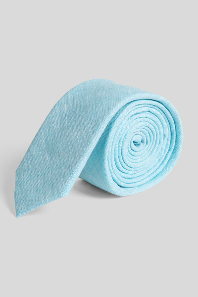 Cravate unie effet lin