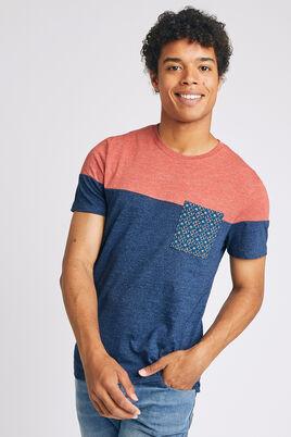 T-shirt color block ethnique